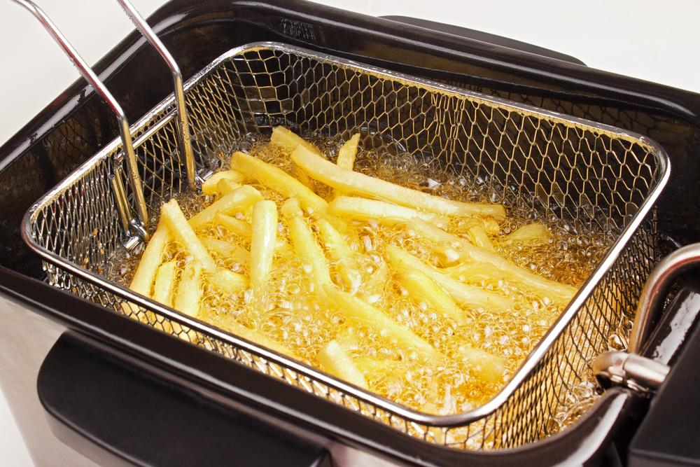 putzen einer friteuse